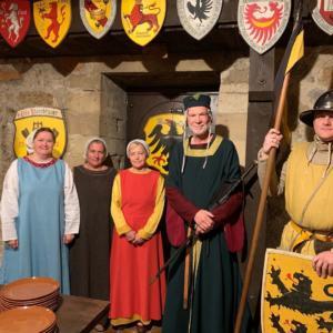 Gästeempfang in den Arkaden